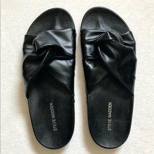 Steve Madden Black Knott Women's Slides Size 8